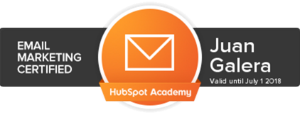 Email marketing Jerez de la Frontera certificación HubSpot