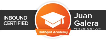 Inbound marketing Jerez de la Frontera certificación HubSpot