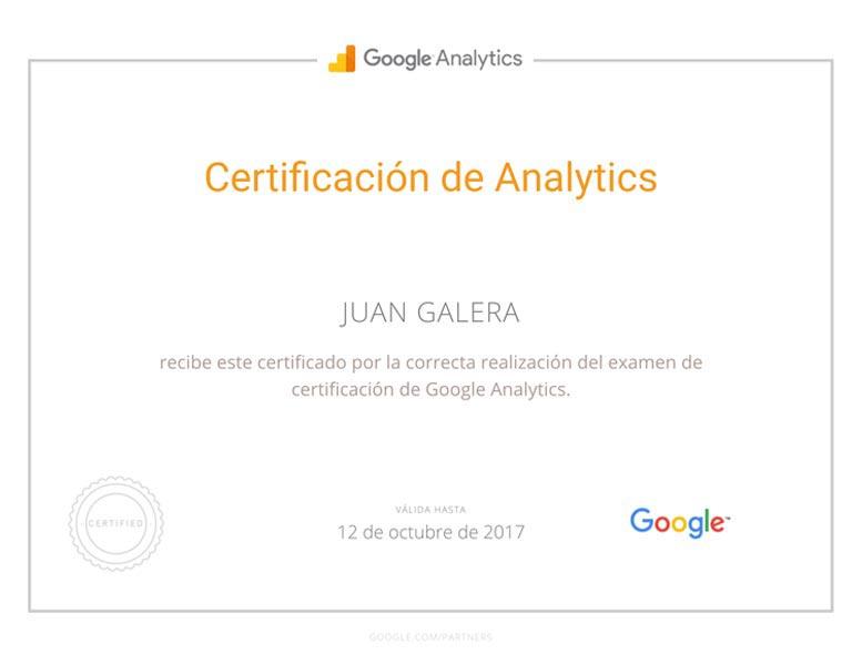 Analítica web Jerez de la Frontera certificado Google