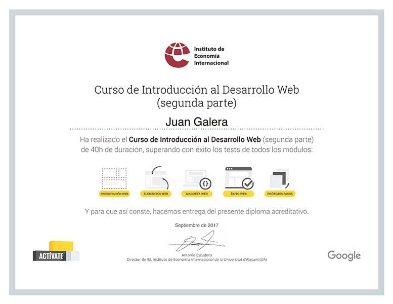 Desarrollo web Jerez de la Frontera certificado Instituto de Economía Internacional