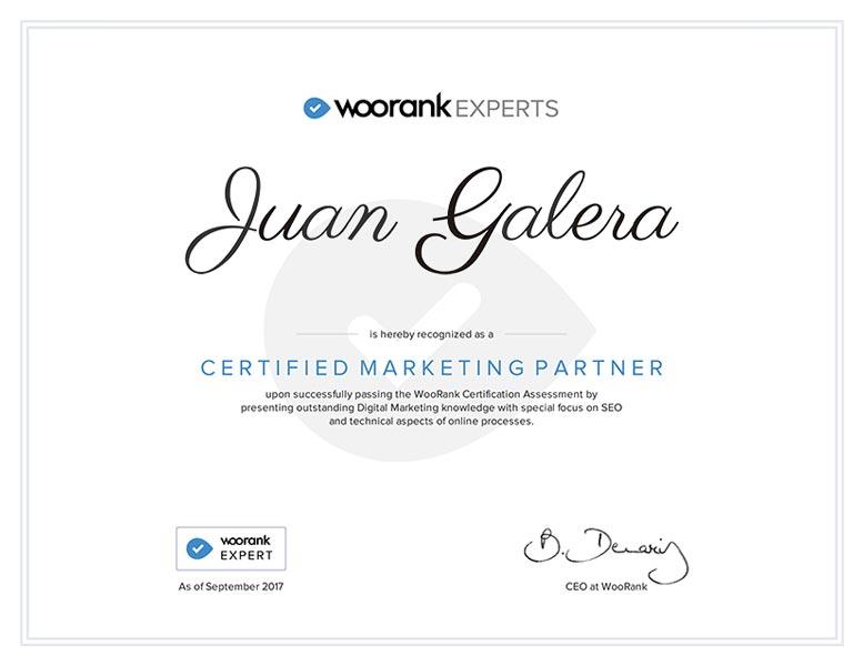 Posicionamiento web SEO Jerez de la Frontera certificado Woorank