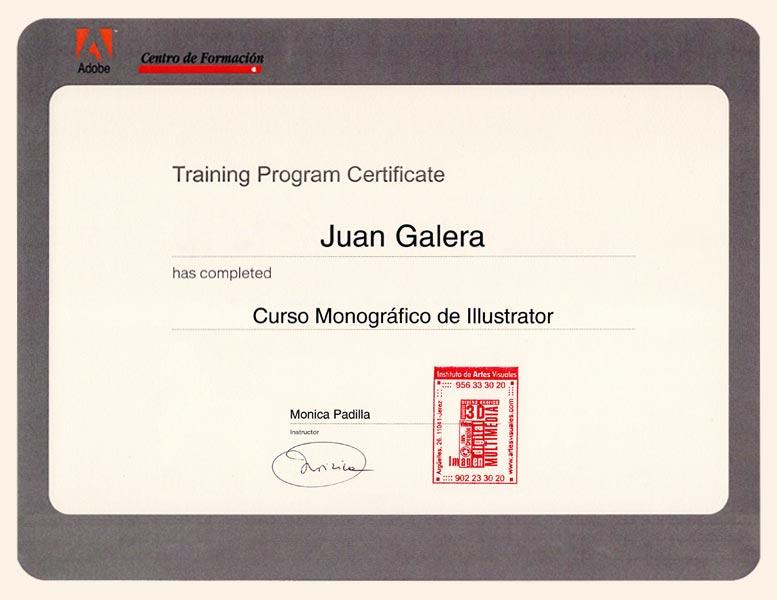 Diseño gráfico Jerez de la Frontera certificado Adobe Illustrator