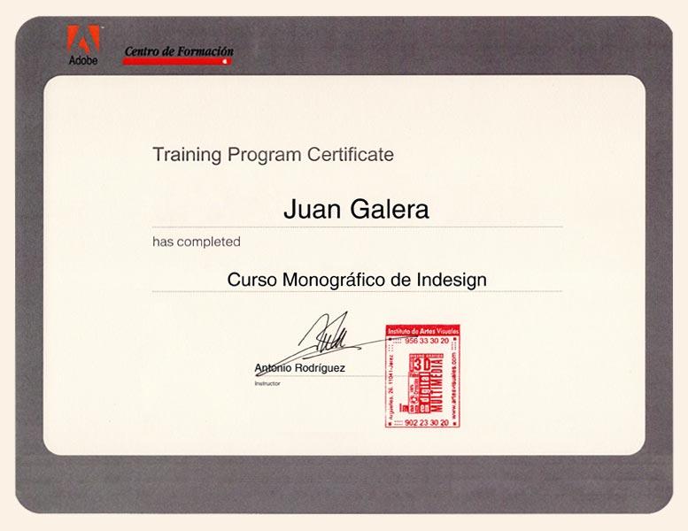 Diseño gráfico Jerez de la Frontera certificado Adobe Indesign