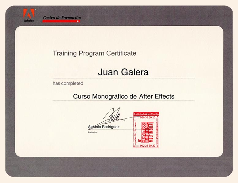 Vídeo marketing Jerez de la Frontera certificado Adobe After Effects