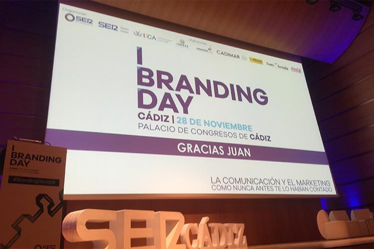 Cadena SER Branding Day Cádiz ponencia Juan Galera agradecimiento
