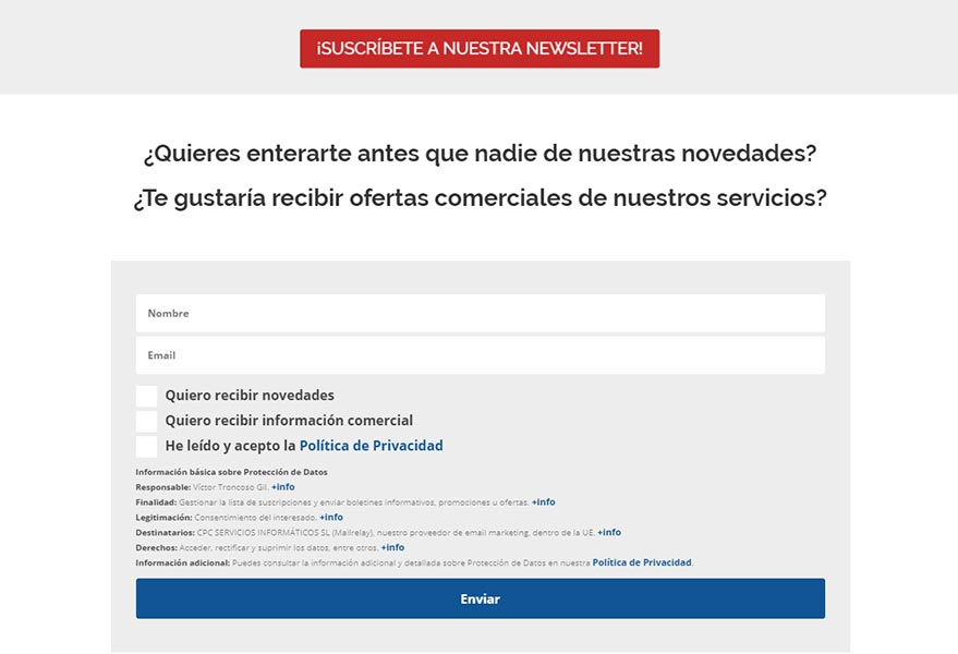 Newsletter y email marketing Global Mensajería