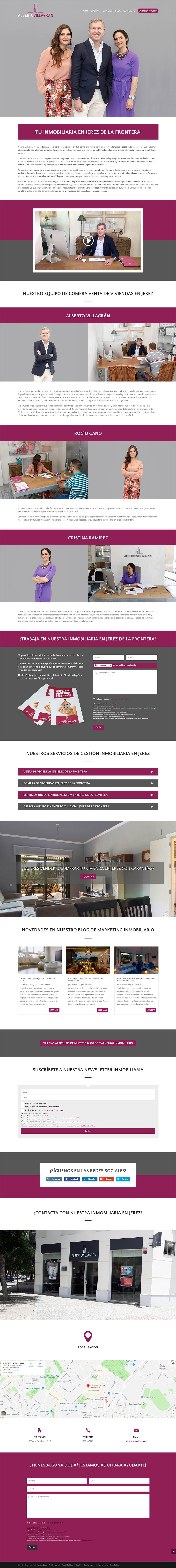 Página web Alberto Villagrán Inmobiliaria