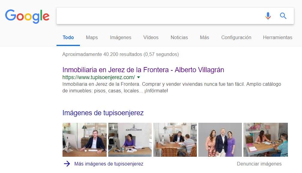 Posicionamiento web y SEO Alberto Villagrán Inmobiliaria