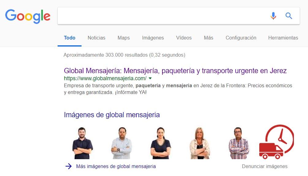 SEO y posicionamiento web Global Mensajería