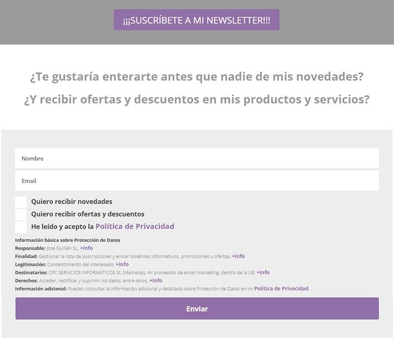 José Guillén suscripción newsletter