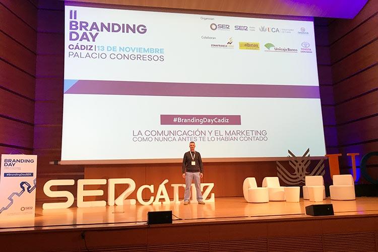 Juan Galera escenario Branding Day Cádiz 2018