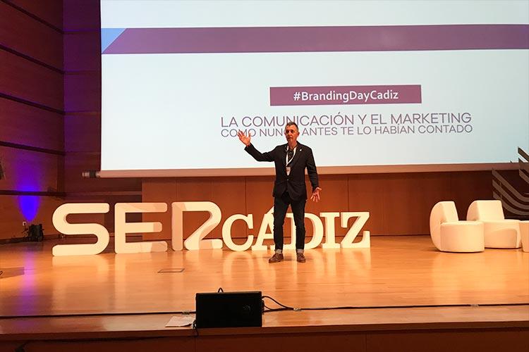 Juan José Mier-Terán escenario Branding Day Cádiz 2018