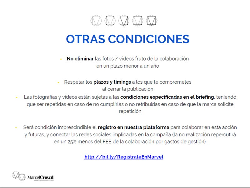Briefing campaña Philips condiciones