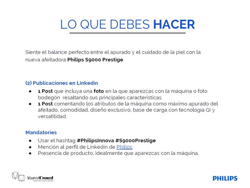 Briefing campaña Philips instrucciones