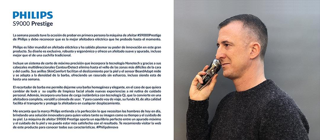 Campaña Philips S9000 Prestige Juan Galera