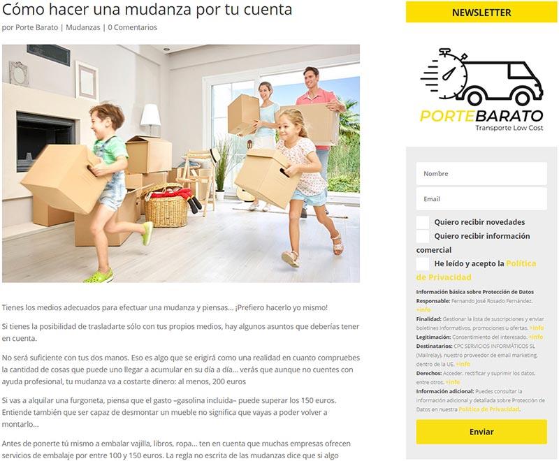 Email marketing Porte Barato