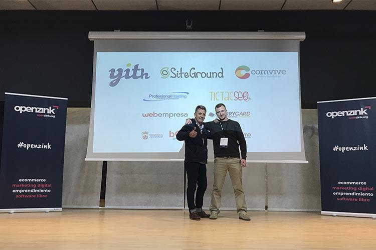 Juan Galera y Juan José Mier-Terán escenario Openzink Day Chiclana 2018
