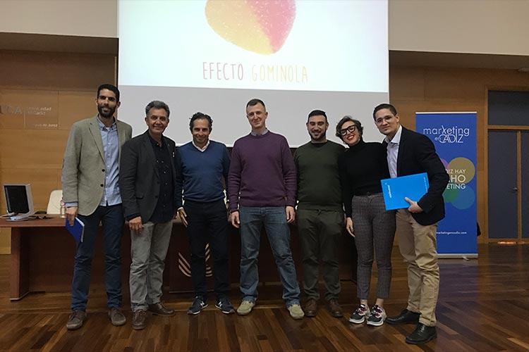 Presentación Asociación Marketing en Cádiz grupo de ponentes