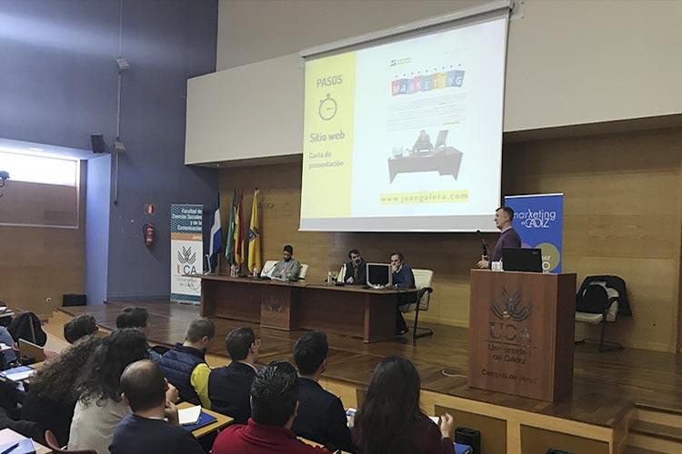 Presentación Asociación Marketing en Cádiz página web Juan Galera