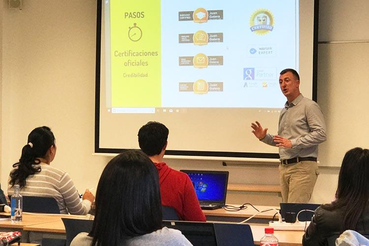 Seminario planificación estratégica Máster marketing digital UCA certificaciones