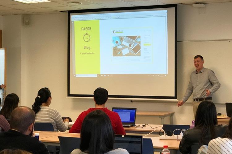 Marketing digital Máster UCA seminario planificación estratégica social media