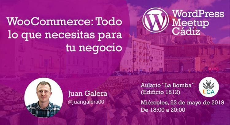 Meetup Oficial de WordPress en Cádiz cartel evento