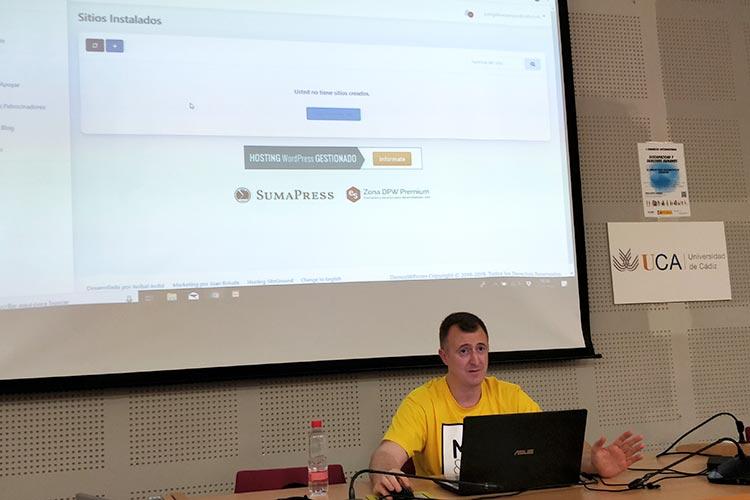 Meetup Oficial de WordPress en Cádiz servidor en la nube DemosWP