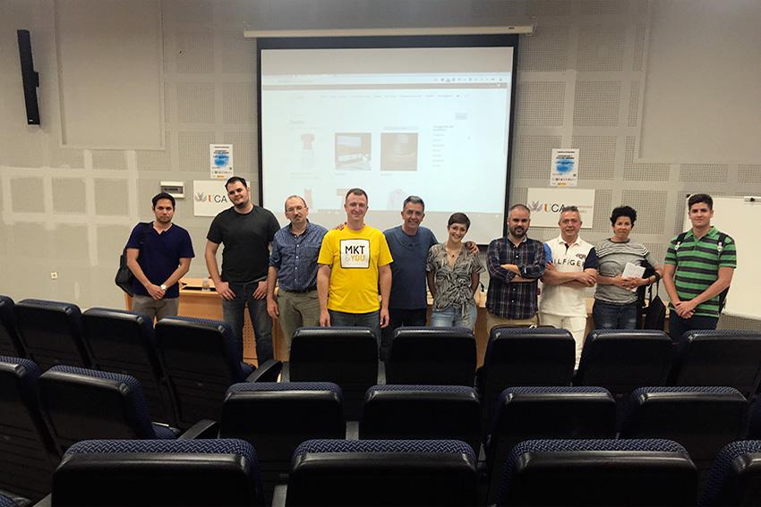 Meetup Oficial de WordPress en Cádiz docente y asistentes