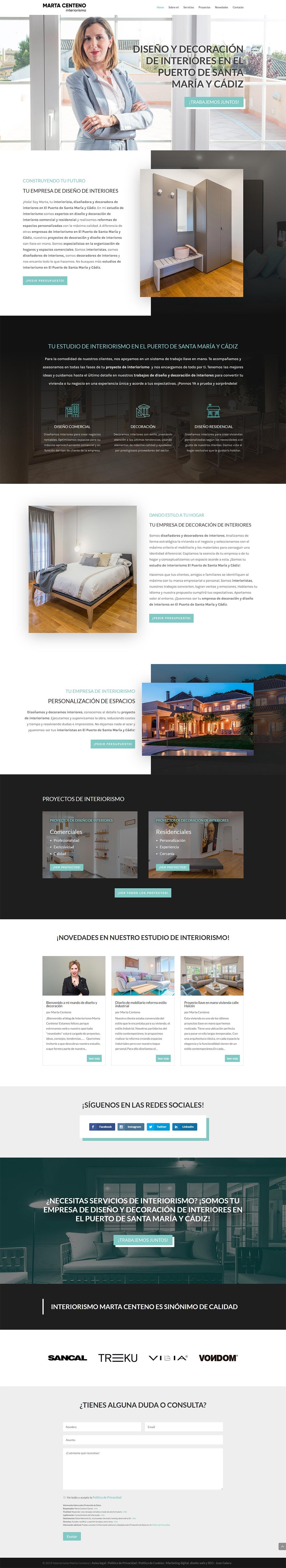 Página web Interiorismo Marta Centeno