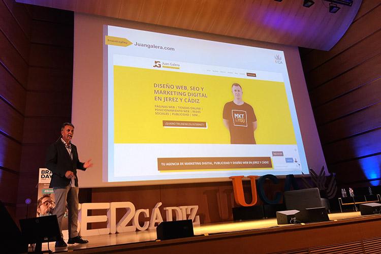 Branding Day Cádiz 2019 exposición Juan Galera profesional destacado