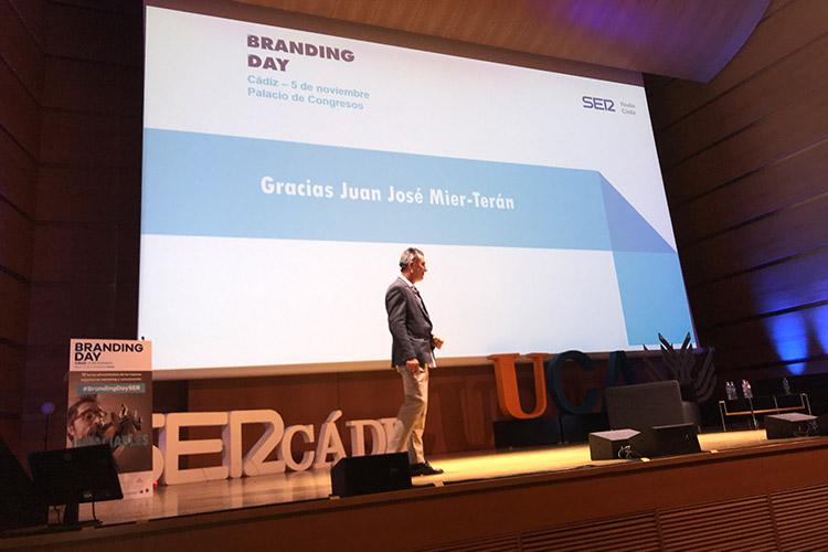 Branding Day Cádiz 2019 ponencia Juan José Mier-Terán agradecimientos
