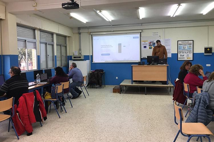 Curso diseño web y ecommerce Instituto Andrés Benítez administración plantilla básica