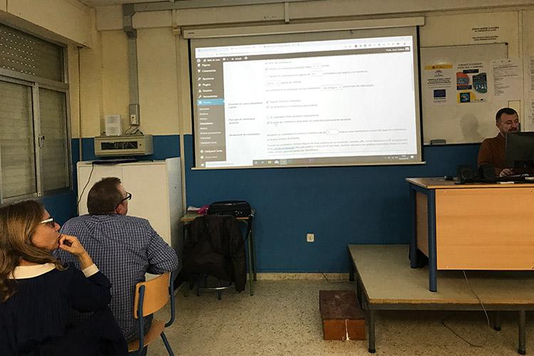 Curso diseño web y ecommerce Instituto Andrés Benítez ajustes básicos CMS WordPress