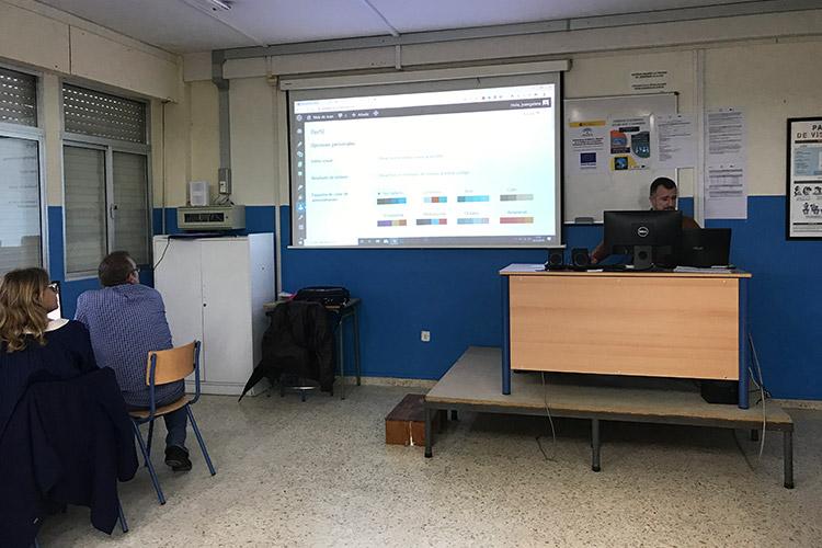 Curso diseño web y ecommerce Instituto Andrés Benítez edición perfil WordPress