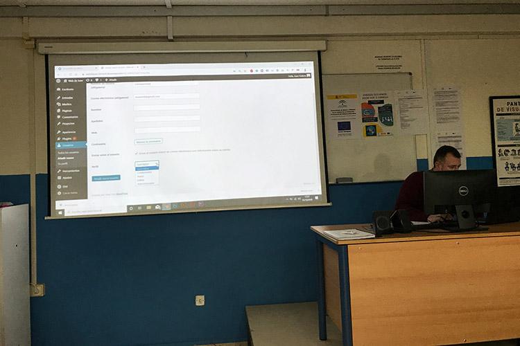 Curso diseño web y ecommerce Instituto Andrés Benítez establecimiento perfil de usuario