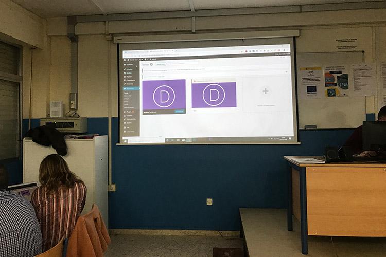 Curso diseño web y ecommerce Instituto Andrés Benítez instalación tema Divi