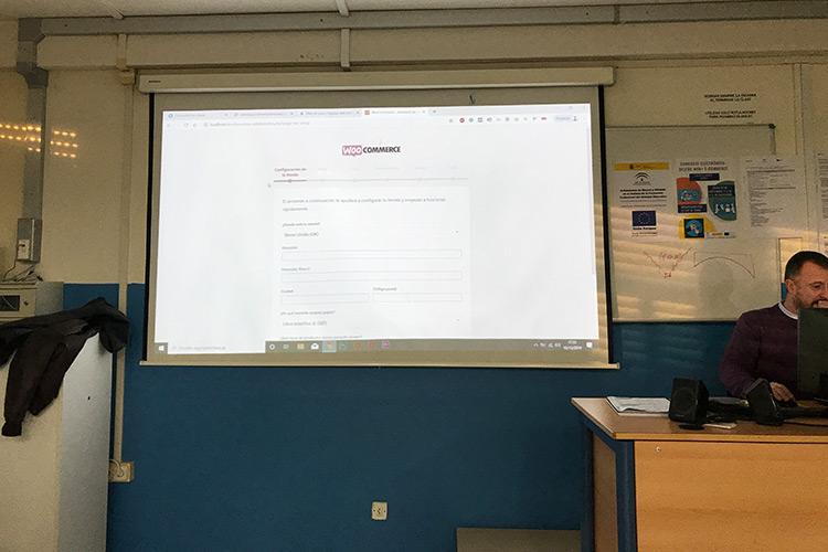 Curso diseño web y ecommerce Instituto Andrés Benítez instalación WooCommerce