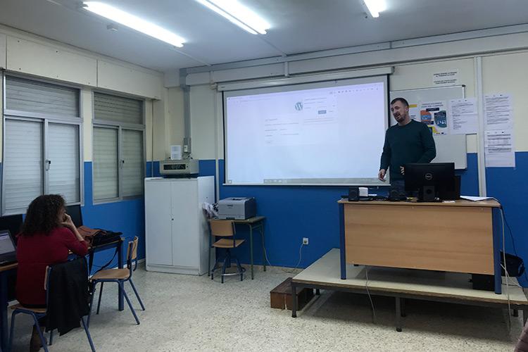Curso diseño web y ecommerce Instituto Andrés Benítez instalación WordPress