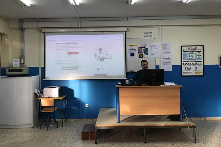 Curso diseño web y ecommerce Instituto Andrés Benítez introducción PrestaShop