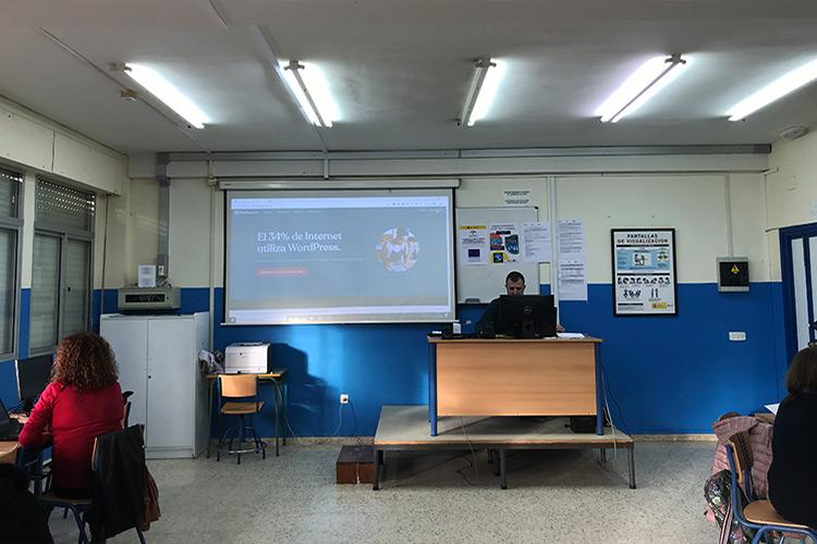 Curso diseño web y ecommerce Instituto Andrés Benítez introducción WordPress