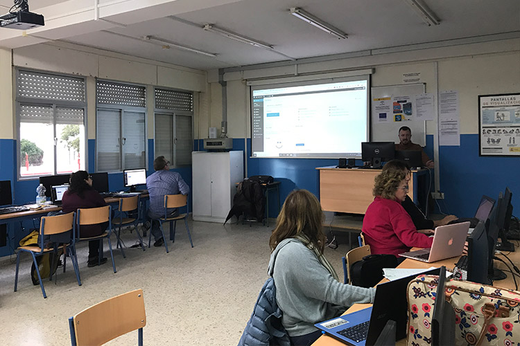 Curso diseño web y ecommerce Instituto Andrés Benítez navegación escritorio WordPress