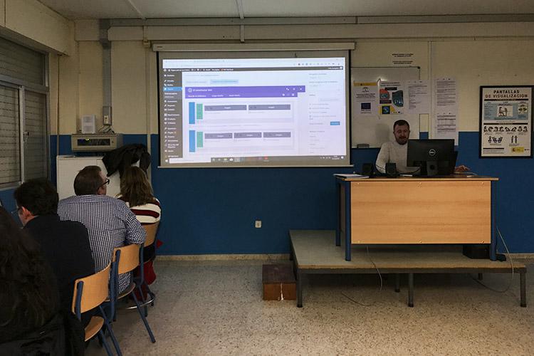 Curso diseño web y ecommerce Instituto Andrés Benítez parte Divi estructuración página web