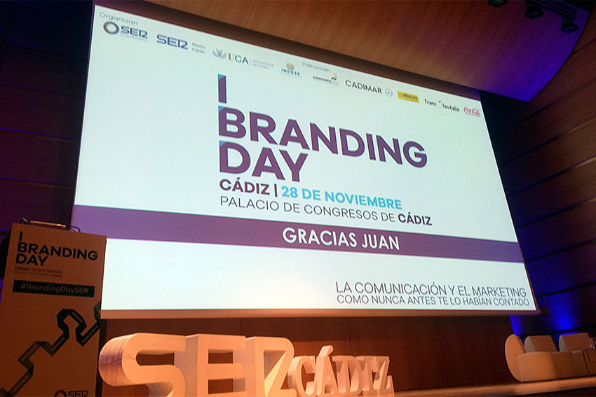 Branding Day Cádiz Cadena SER ponencia marketing digital y marca personal Juan Galera agradecimiento slider