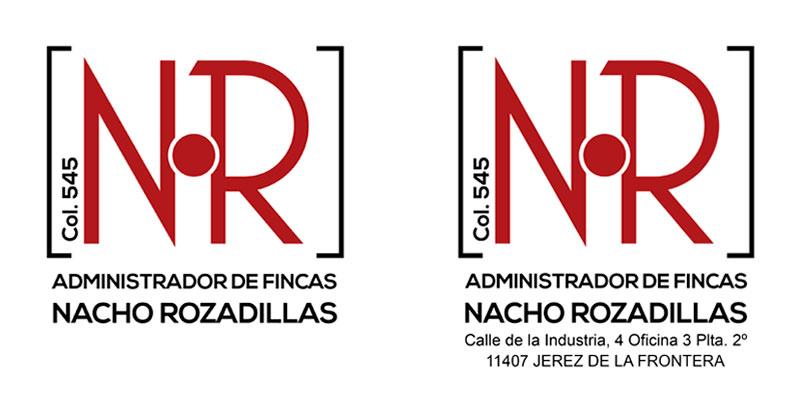 Diseño gráfico logotipo Administrador de fincas Nacho Rozadillas