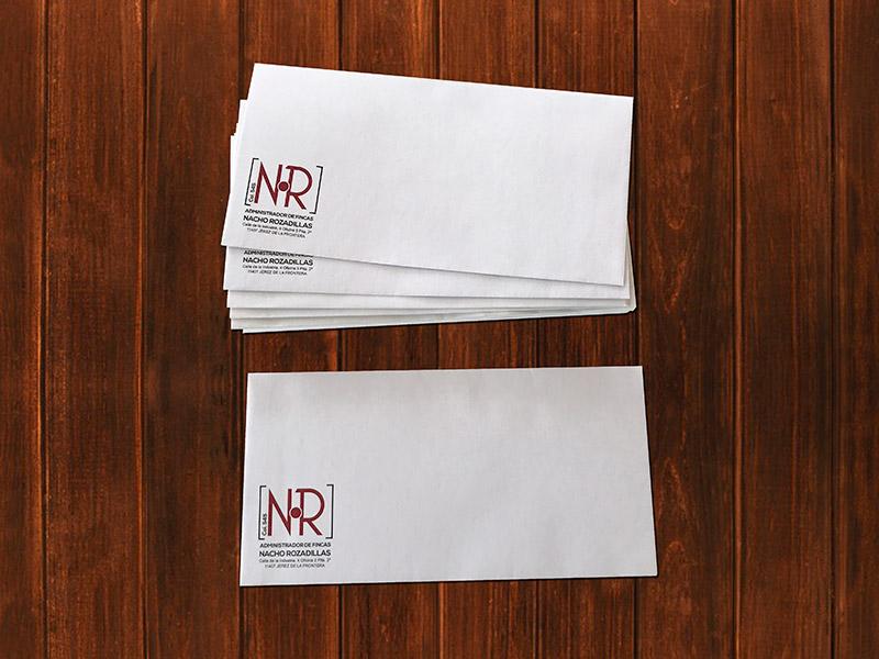 Imprenta sobres personalizados Administrador de fincas Nacho Rozadillas