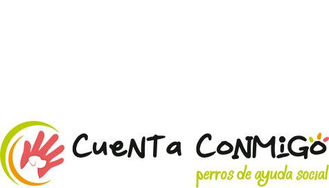 Logotipo horizontal Cuenta Conmigo Perros de Ayuda Social