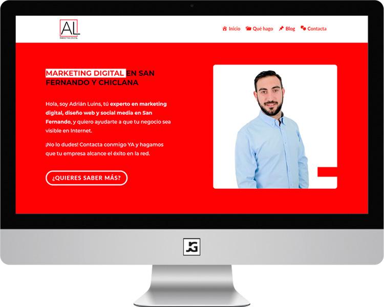 Página web Adrián Luins