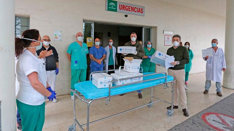 Acción Responsabilidad Social Corporativa El Boticario en Casa Coronavirus COVID-19 donación Hospital Jerez vista general