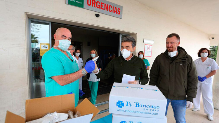 Acción Responsabilidad Social Corporativa El Boticario en Casa Coronavirus COVID-19 donación Juan Carlos Herrera