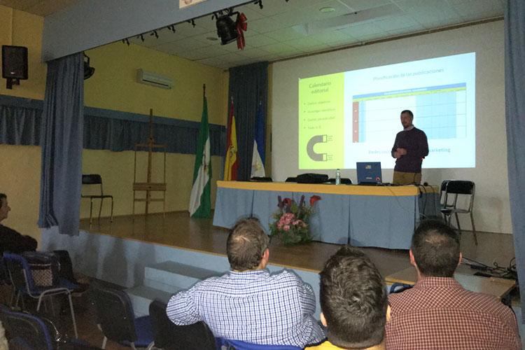 Taller planificación estratégica negocios online Instituto Andrés Benítez Jerez calendario editorial